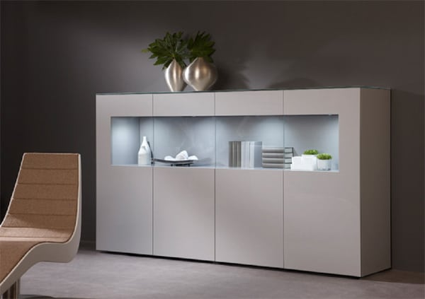 Buffet Enfilade Blanc Collection Karat - Meuble Contemporain | Vazard Home