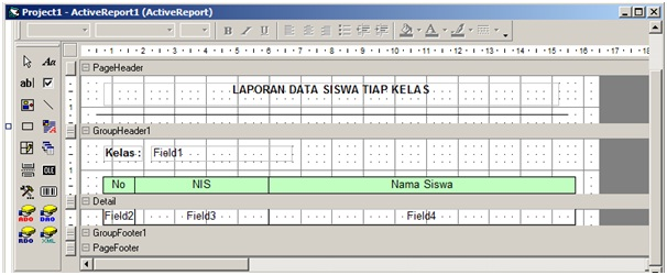 Create Reports Using Active Reports with Microsoft Access database