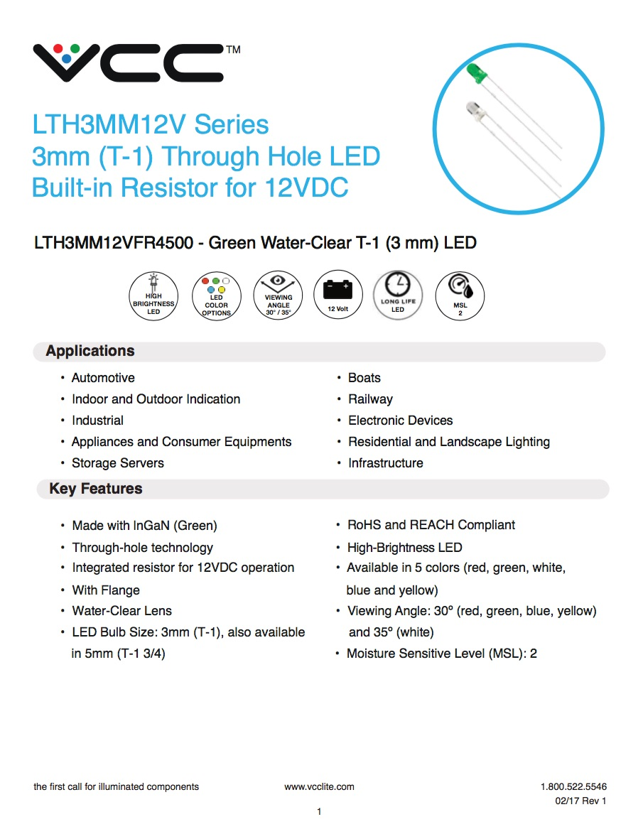 Led Dome Light With Resistor New Product - Lthxmm12v Series - 3mm/5mm Led With Built-in