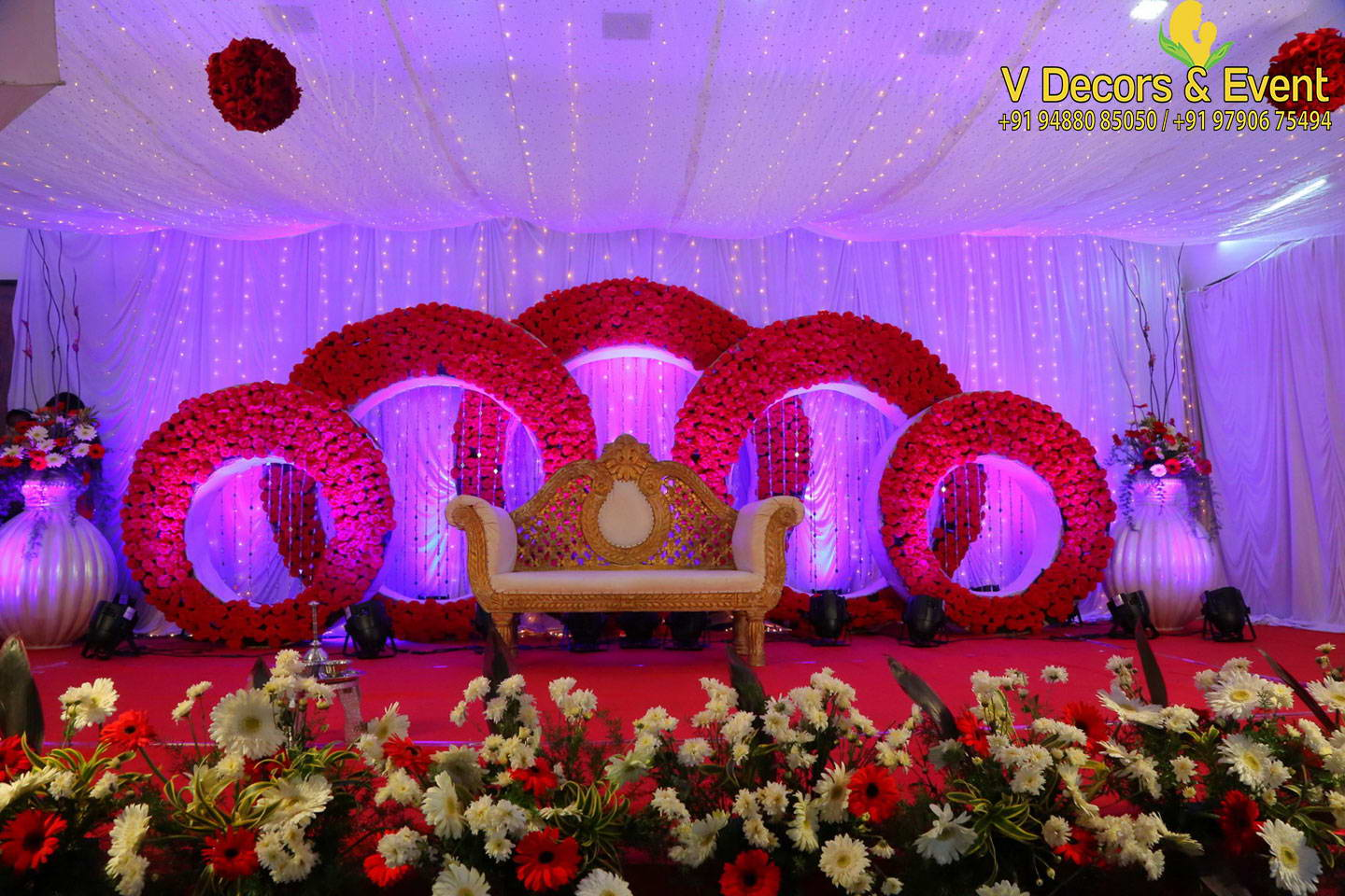 Stage Decoration V Decors And Events Wedding Decorations Pondicherry Event
