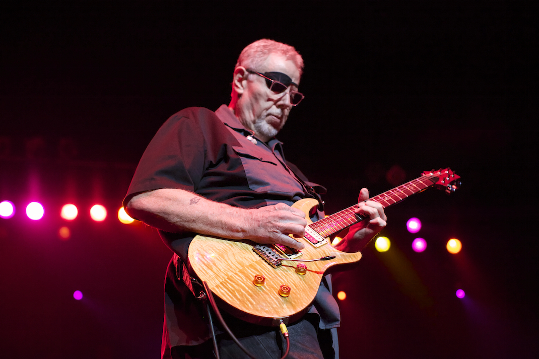 """Rich Williams during """"Leftoverture"""" solo."""