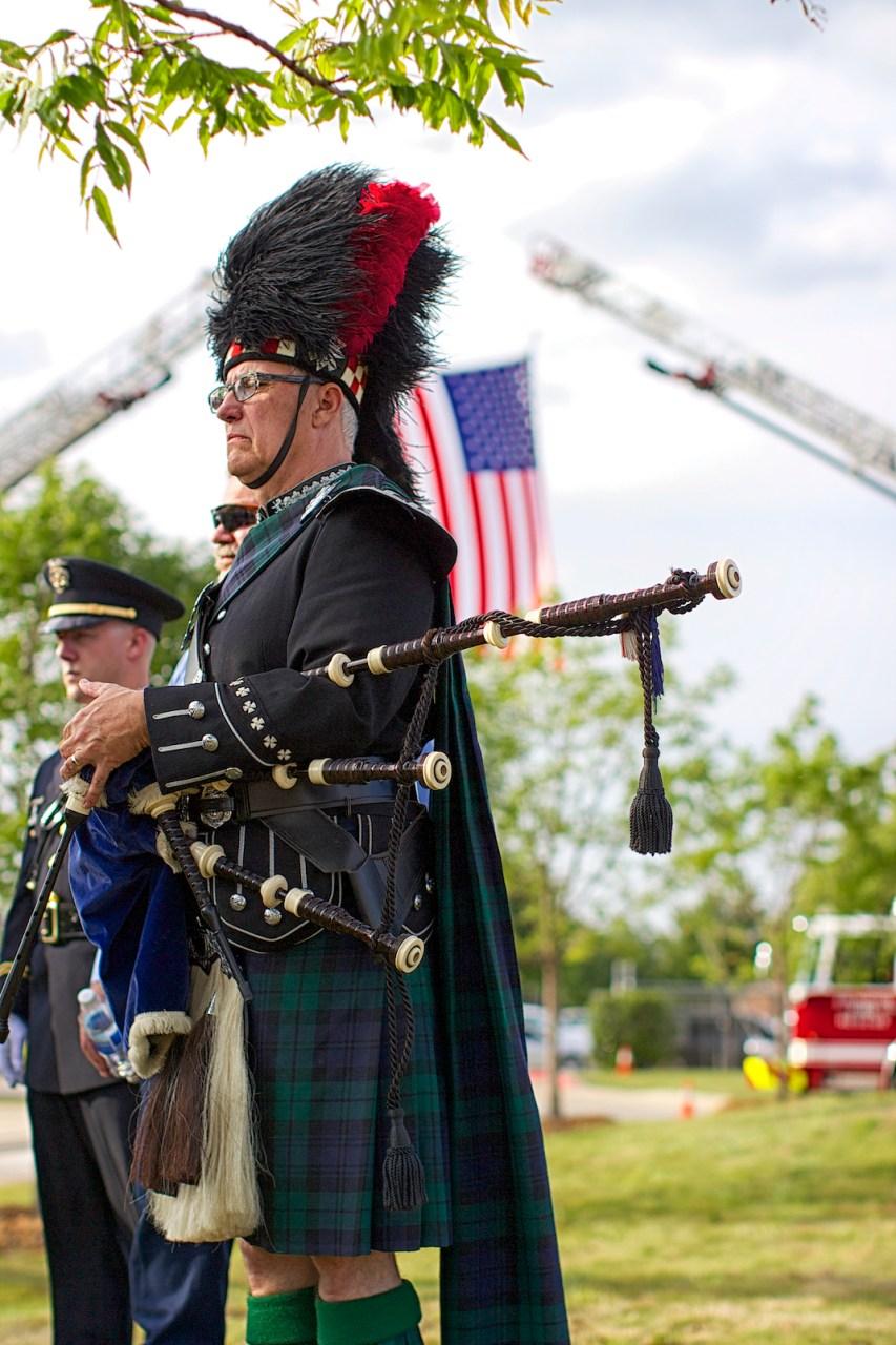 Memorial service for Arlington, Texas first responders.