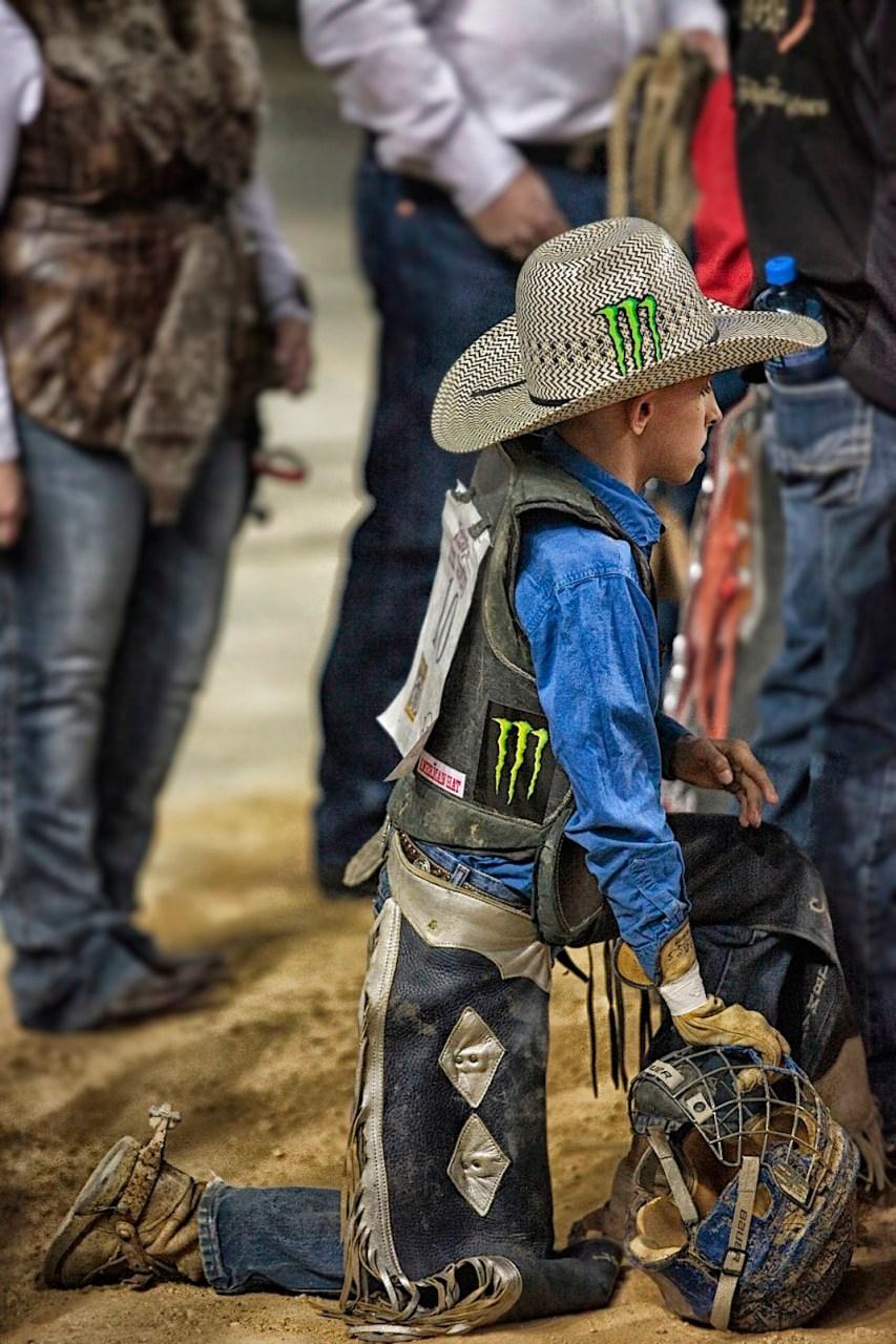 Little cowboy, PBR event, Arlington, Texas