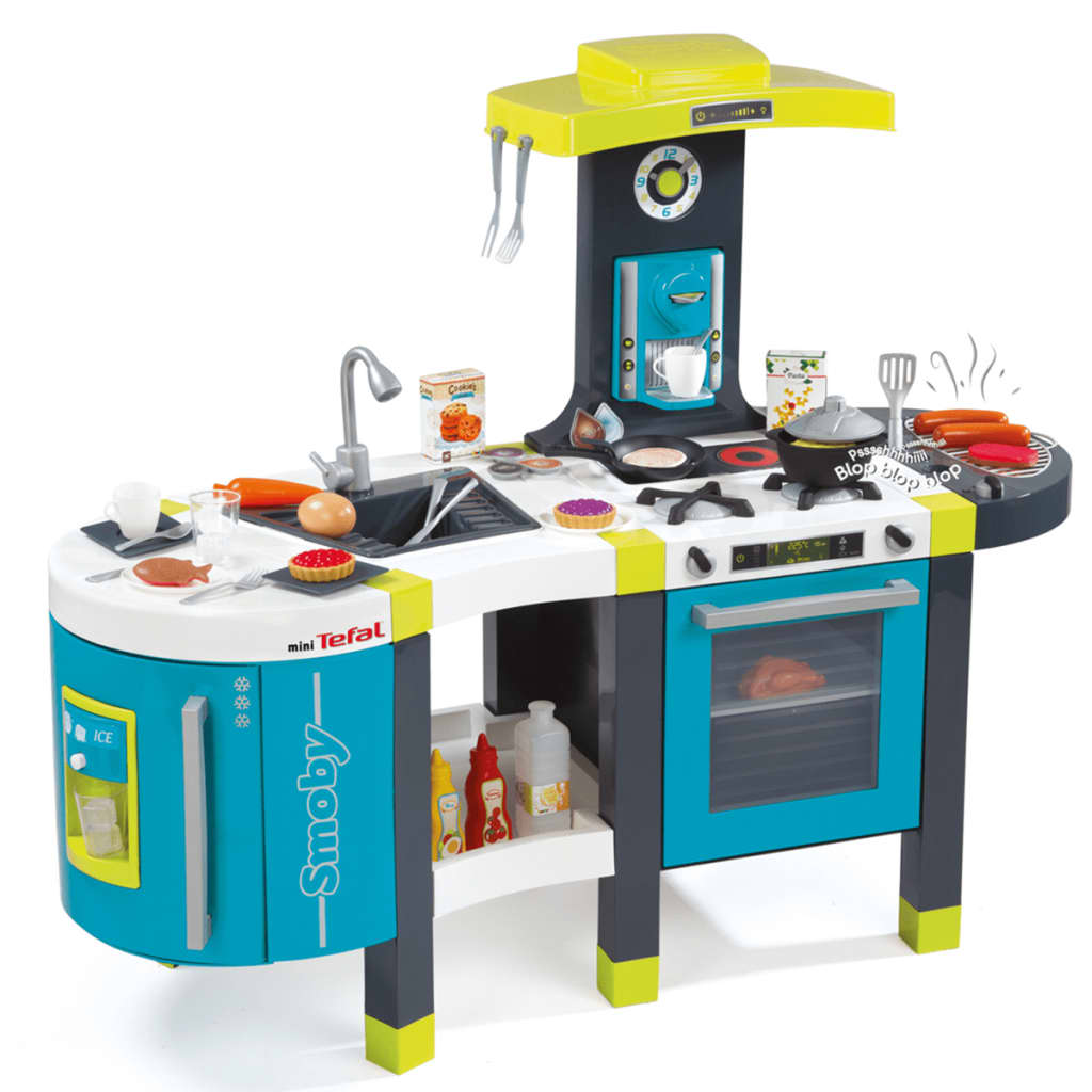 Tefal Küche Kinder Smoby Tefal French Touch Küche 115x41x93 Cm Blau 311200