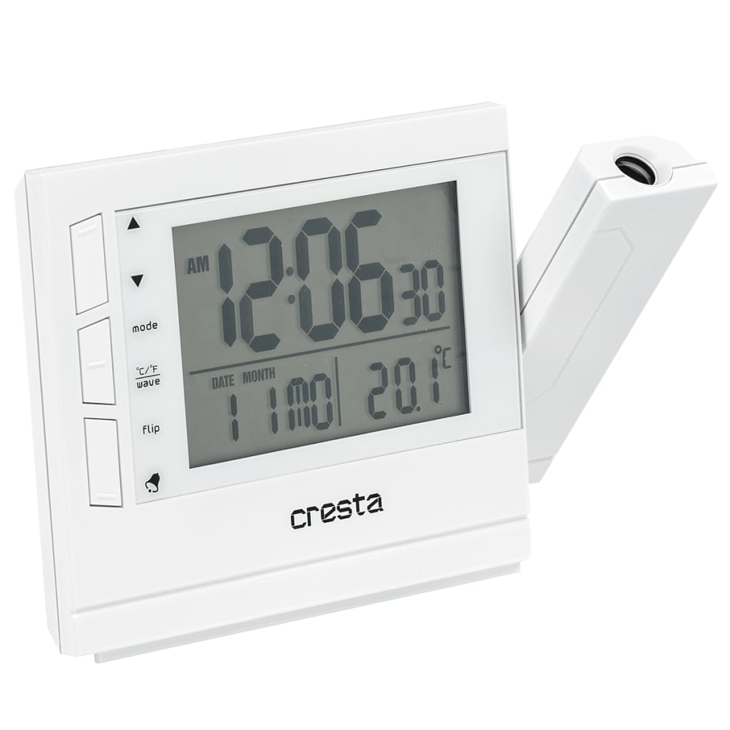 Digital Clock For Sale Cresta Digital Alarm Clock With Projector Prc280 White 24040 01 For Sale In Uk Preloved