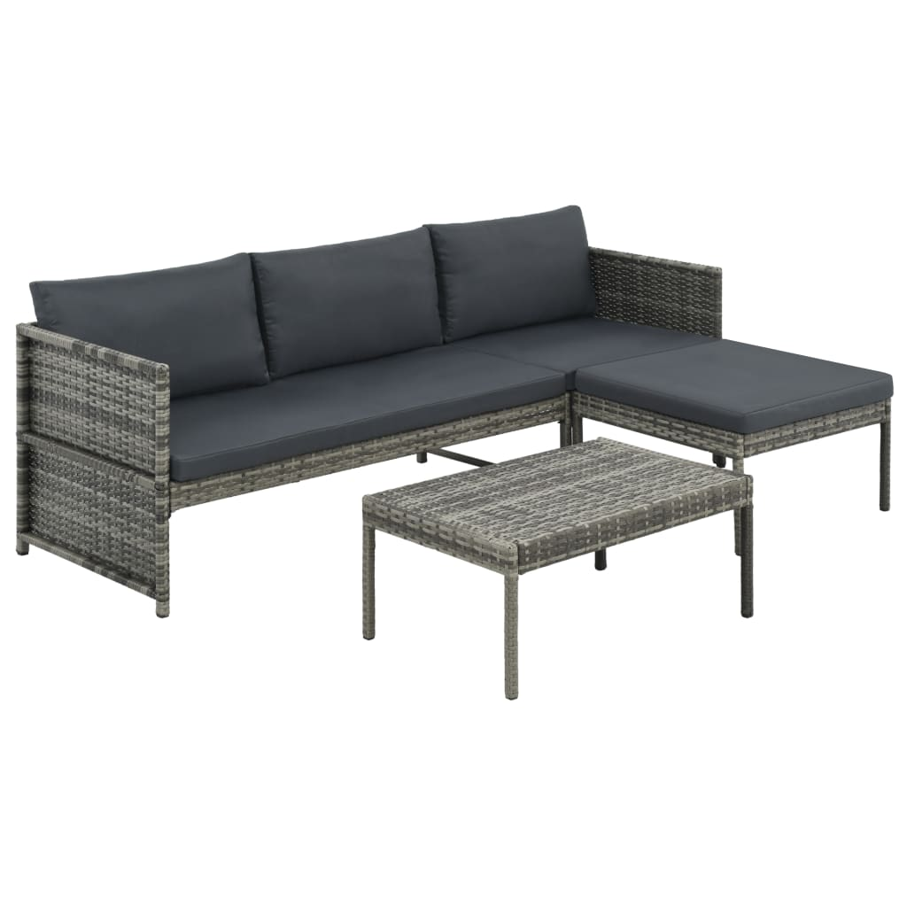 Lounge Set Rattan Details About Vidaxl Garden Lounge Set Poly Rattan Wicker Gray 3 Seater Sofa Patio Outdoor