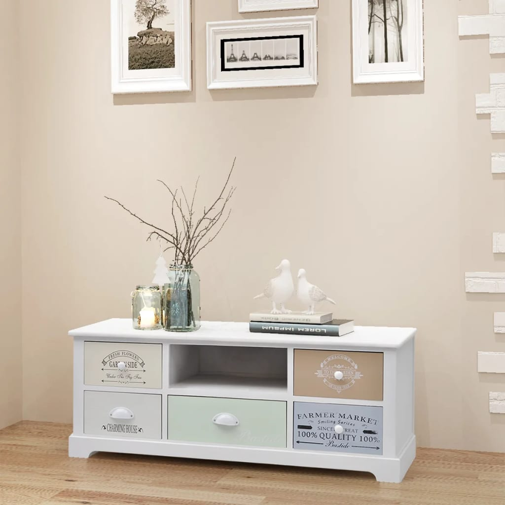 Shabby Chic Details About Tv Stand Shabby Chic Wooden Tv Cabinet Mdf Home Storage Entertainment Center