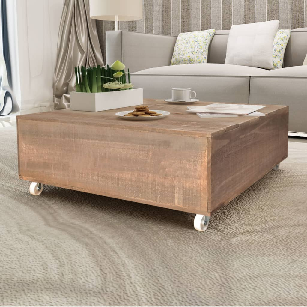 Tables De Salon Bois   Large Coffee Table Made From Solid Wood And ...