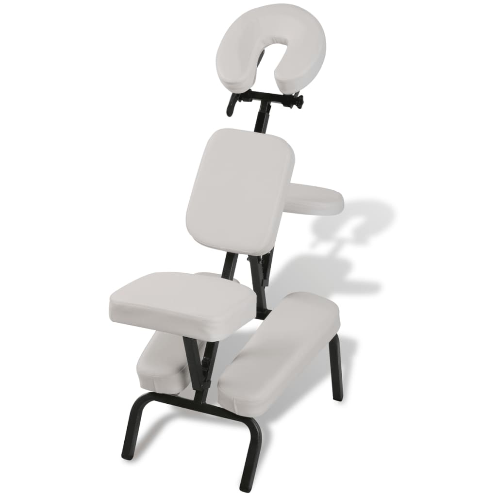 Chaise De Massage Prix Chaise De Massage Pliante Et Portable Blanc Vidaxl Ch