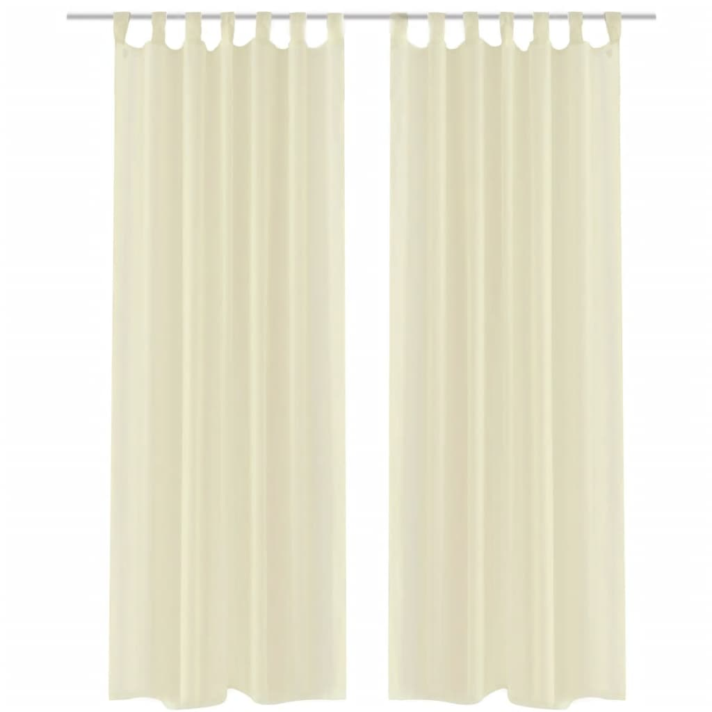 White Sheer Door Panel Curtains Long White Cream Sheer Voile Curtain Multi Sizes Door