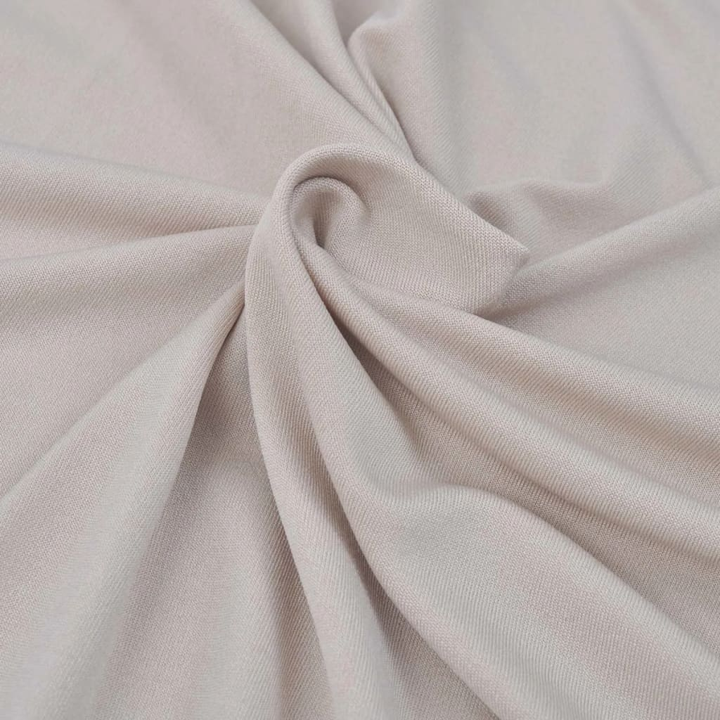 Polyester Bank Vidaxl Stretch Meubelhoes Voor Bank Beige Polyester Jersey