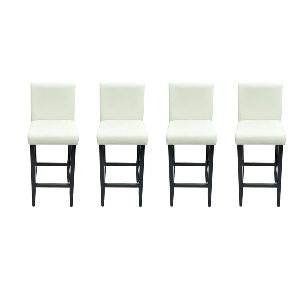 4 Tabourets De Bar Stockholm Acheter Lot De 4 Tabourets De Bar Cuir Artificiel Blanc