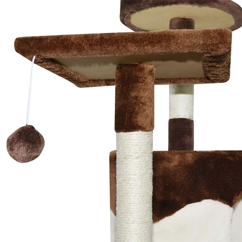 White Cat Scratching Post Vidaxl Cat Scratching Post 213 Cm Brown And White Vidaxl