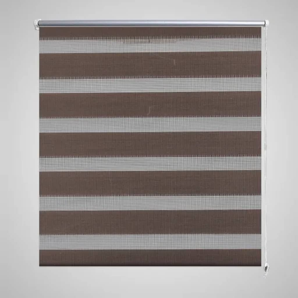 140 Cm Zebra Blind 140 X 175 Cm Coffee Vidaxl Co Uk