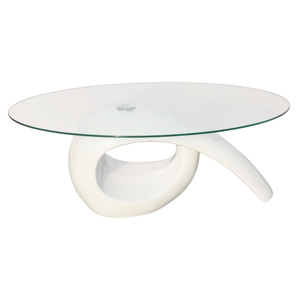 Glass Top Glass Top Coffee Table High Gloss White Vidaxl Co Uk