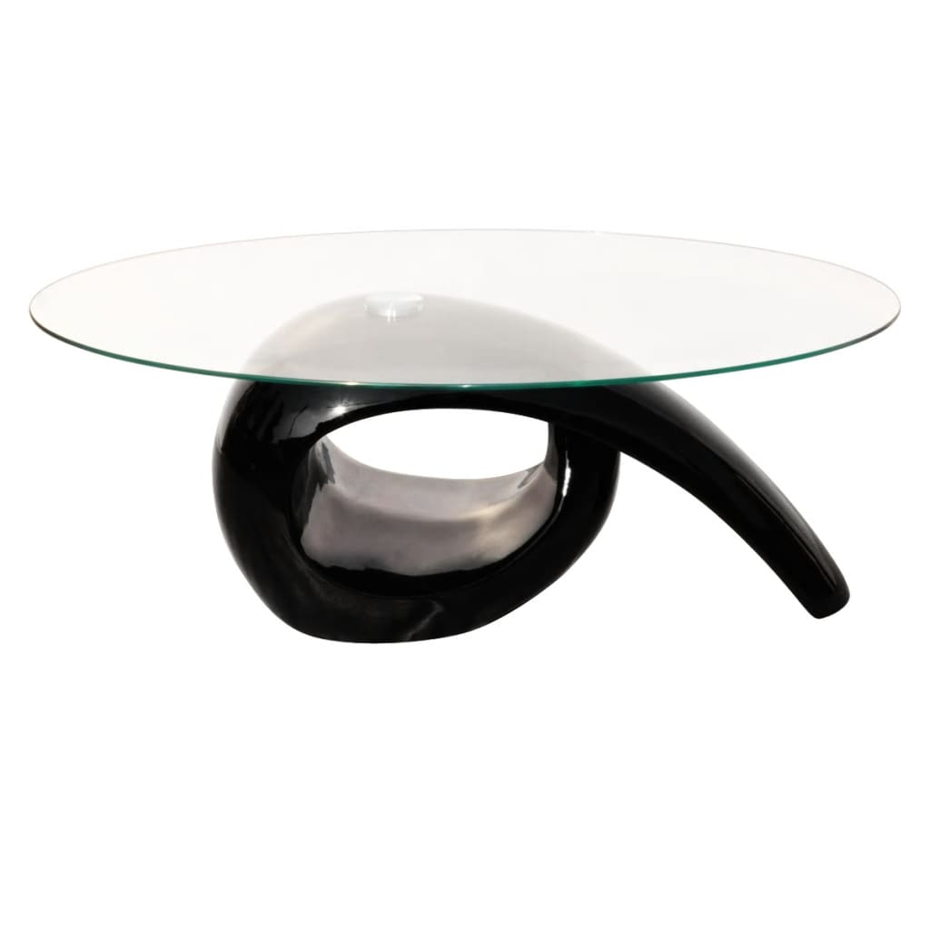 Glass Top Glass Top Coffee Table High Gloss Black Vidaxl Co Uk
