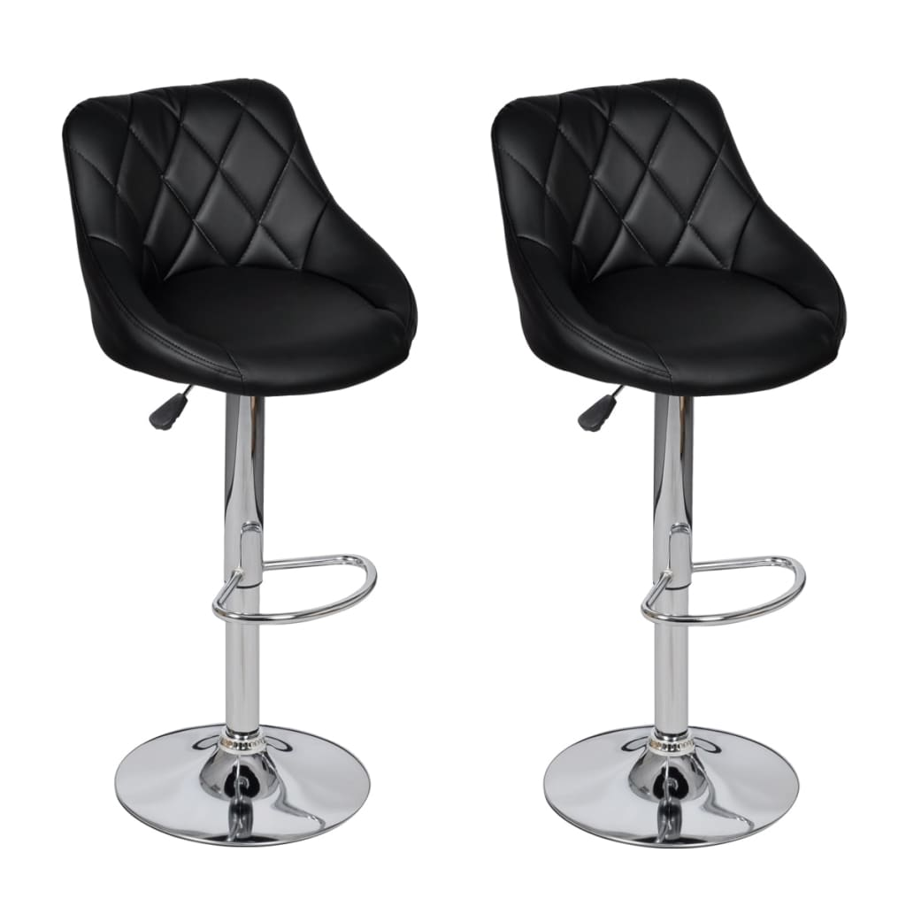 Songmics Lot De 2 Tabourets De Bar Stool Acheter Lot De 2 Tabourets De Bar Noirs Design Moderne Pas