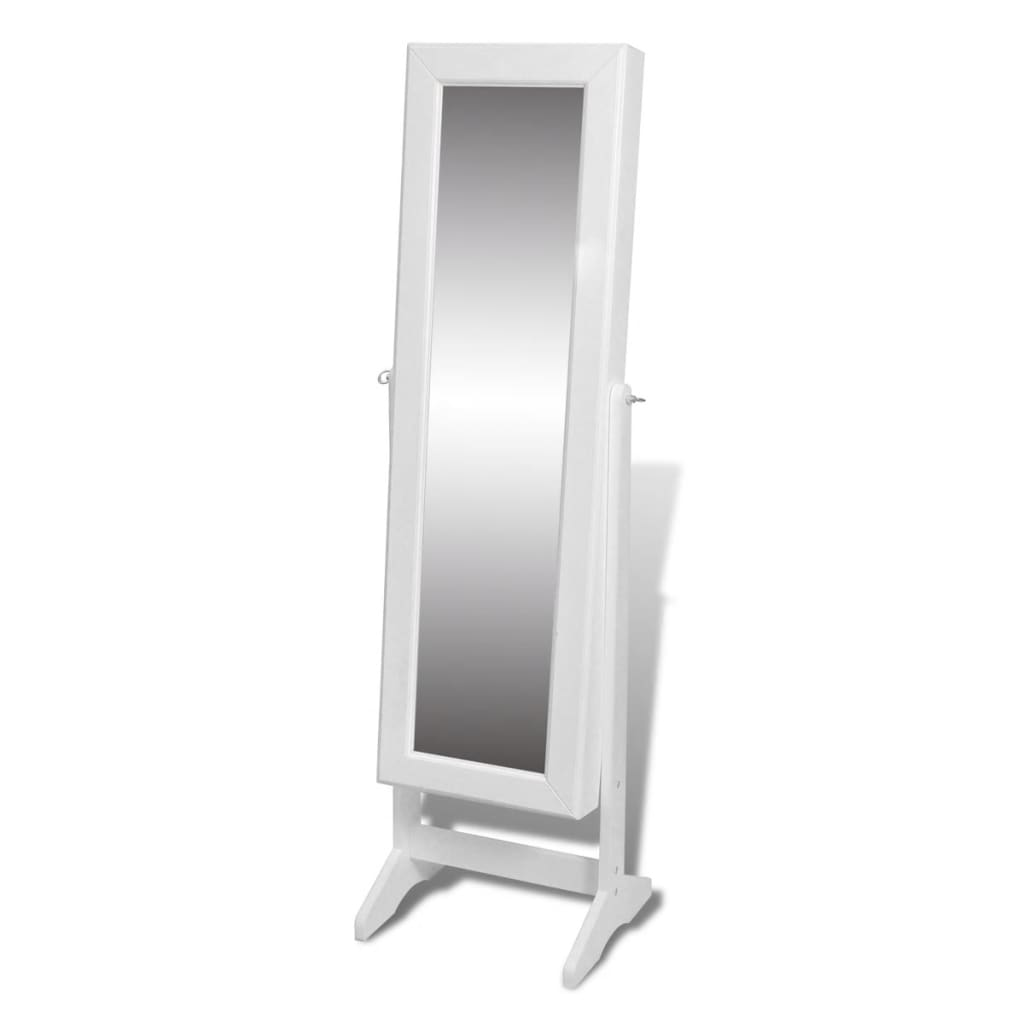 Floor Mirrors Melbourne Free Standing Mirror Jewellery Cabinet Wardrobe White