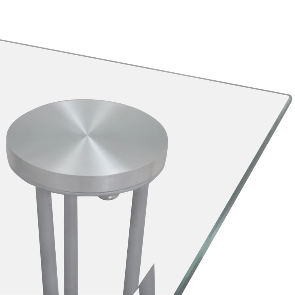 Glass Top Transparent Glass Top Dining Table Vidaxl Co Uk