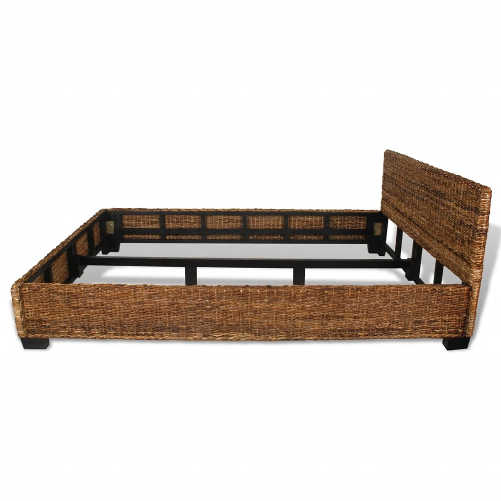 140 Cm Handwoven Abaca Rattan Bed 140 X 200 Cm Vidaxl Co Uk