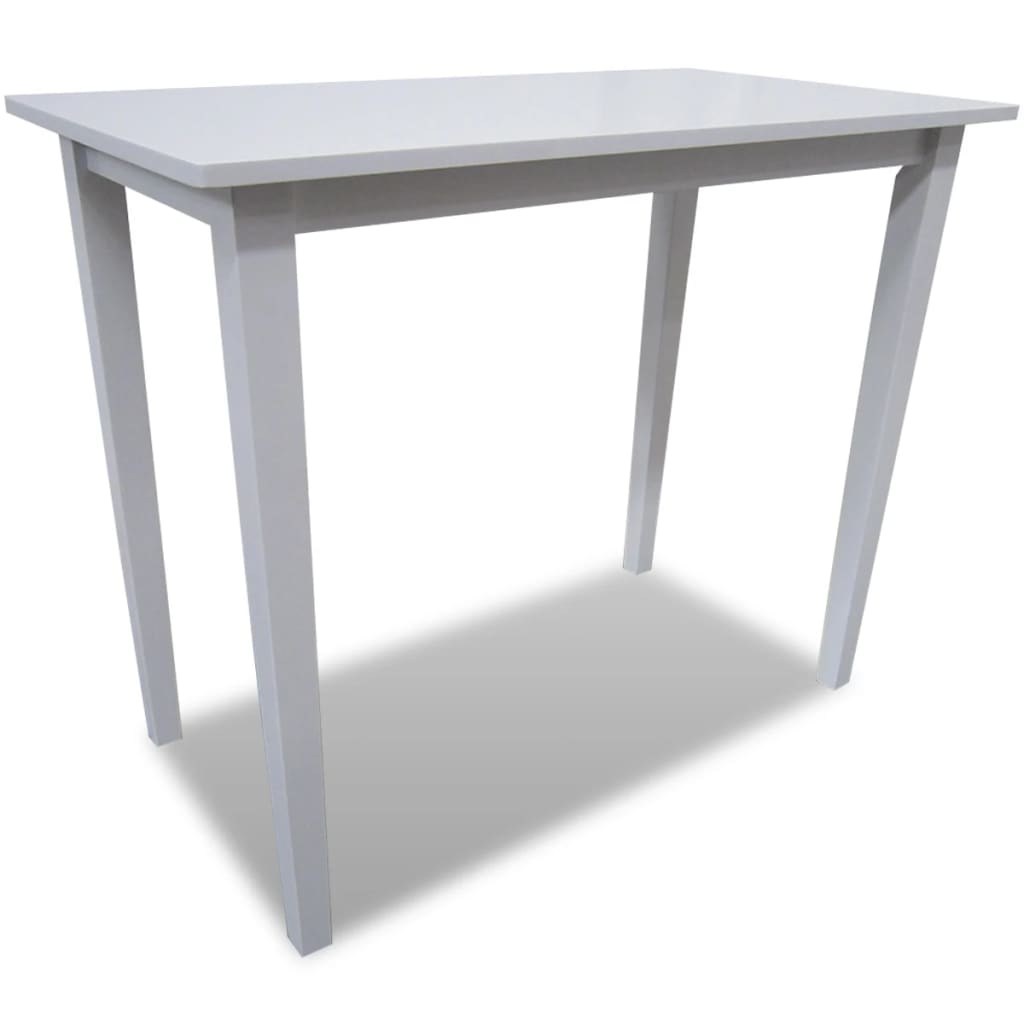 White Wooden Bar Table