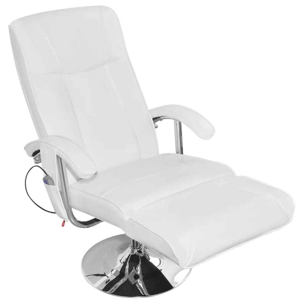Electric Recliner Leather Chairs White Artificial Leather Electric Tv Recliner Massage