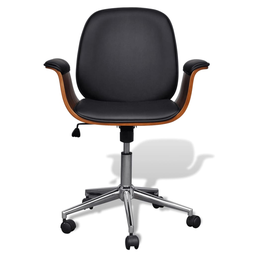 Ergonomic Swivel Office Chair Adjustable Swivel Office Chair Artificial Leather Vidaxl