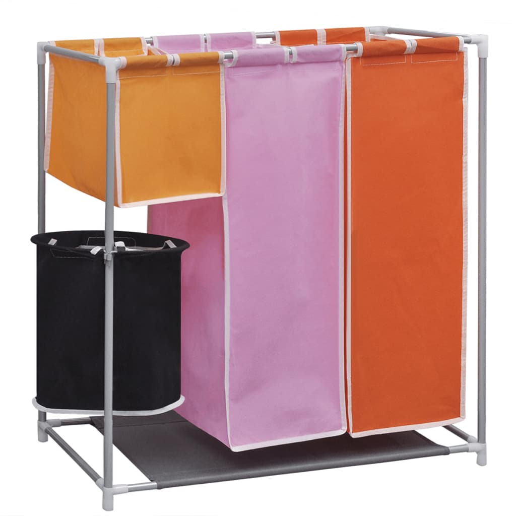 3 Basket Laundry Hamper 3 Section Laundry Sorter Hamper With A Washing Bin