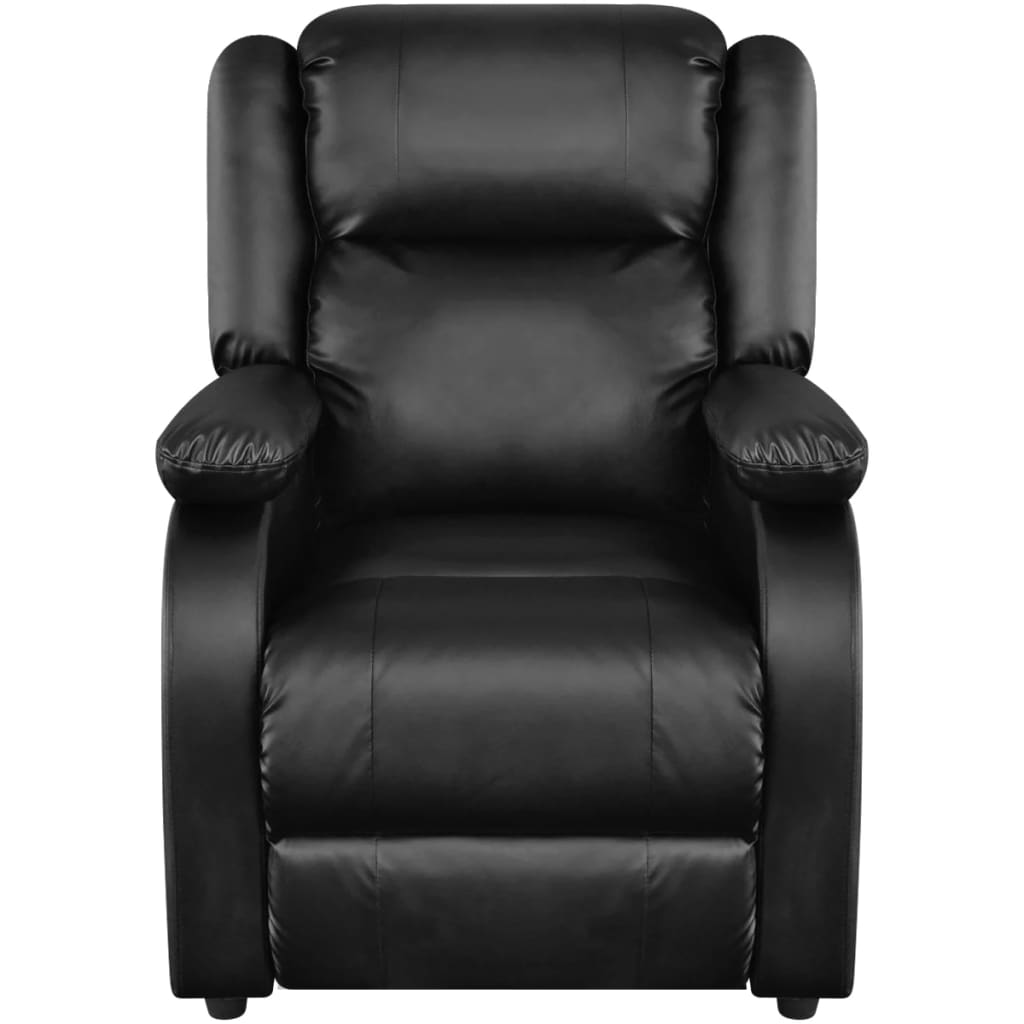 Electric Recliner Leather Chairs Electric Massage Recliner Chair Artificial Leather Black
