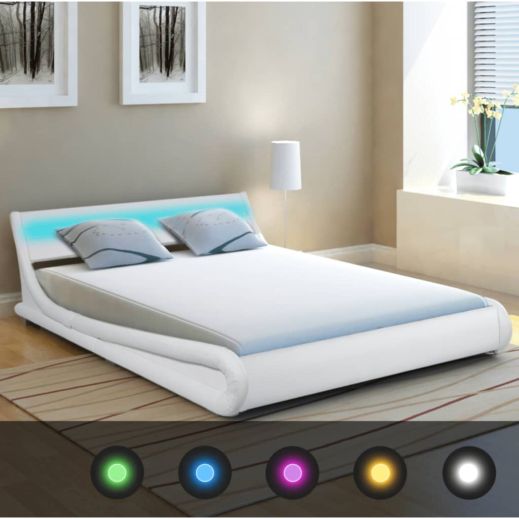150 X 200 Bed Vidaxl Bed Frame With Led 5ft King Size 150x200 Cm