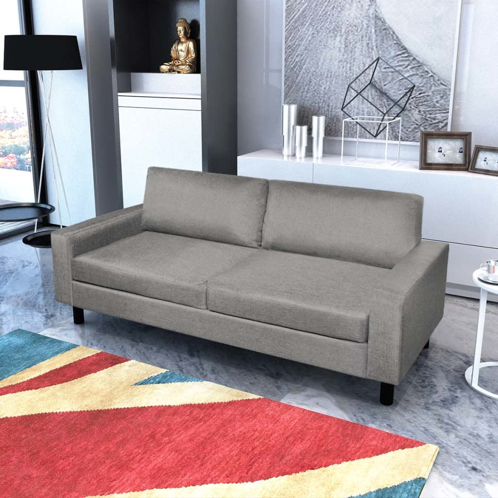Ebay Sofa Grey Details About Vidaxl 3 Seater Sofa Couch Seats Living Room Seating Wooden Frame Light Gray