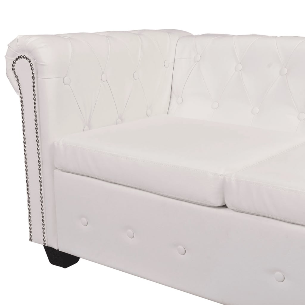 Chesterfield Ecksofa Weiss Vidaxl Chesterfield Ecksofa Eckcouch Loungesofa Couch 6
