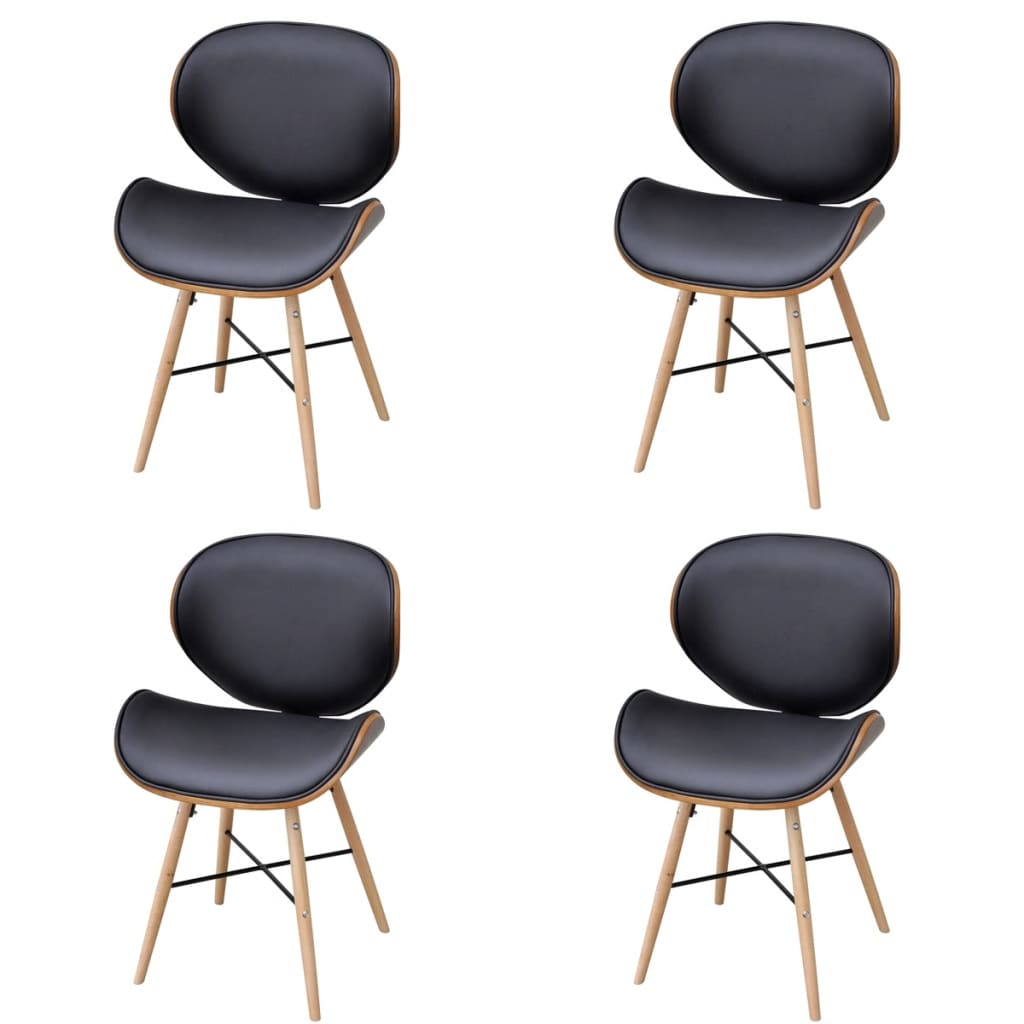 Bentwood Chairs Melbourne 4 Pcs Armless Dining Chair With Bentwood Frame Vidaxl Au