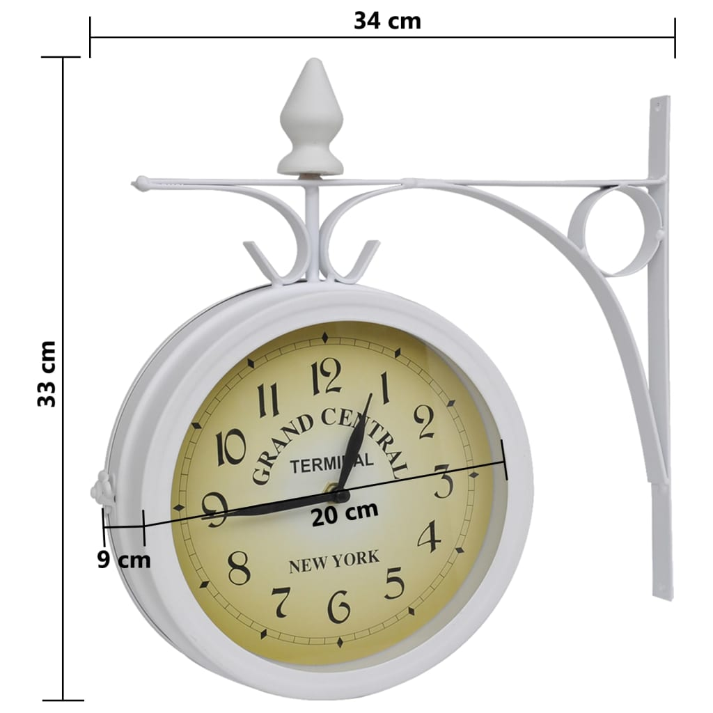 Classical Wall Clocks Wall Clock Two Sided Classic Design Vidaxl Co Uk