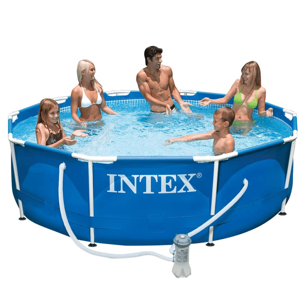 Intex Zwembad Groen Intex Metal Frame Pool 305 X 76 Cm 28202gn Vidaxl Co Uk