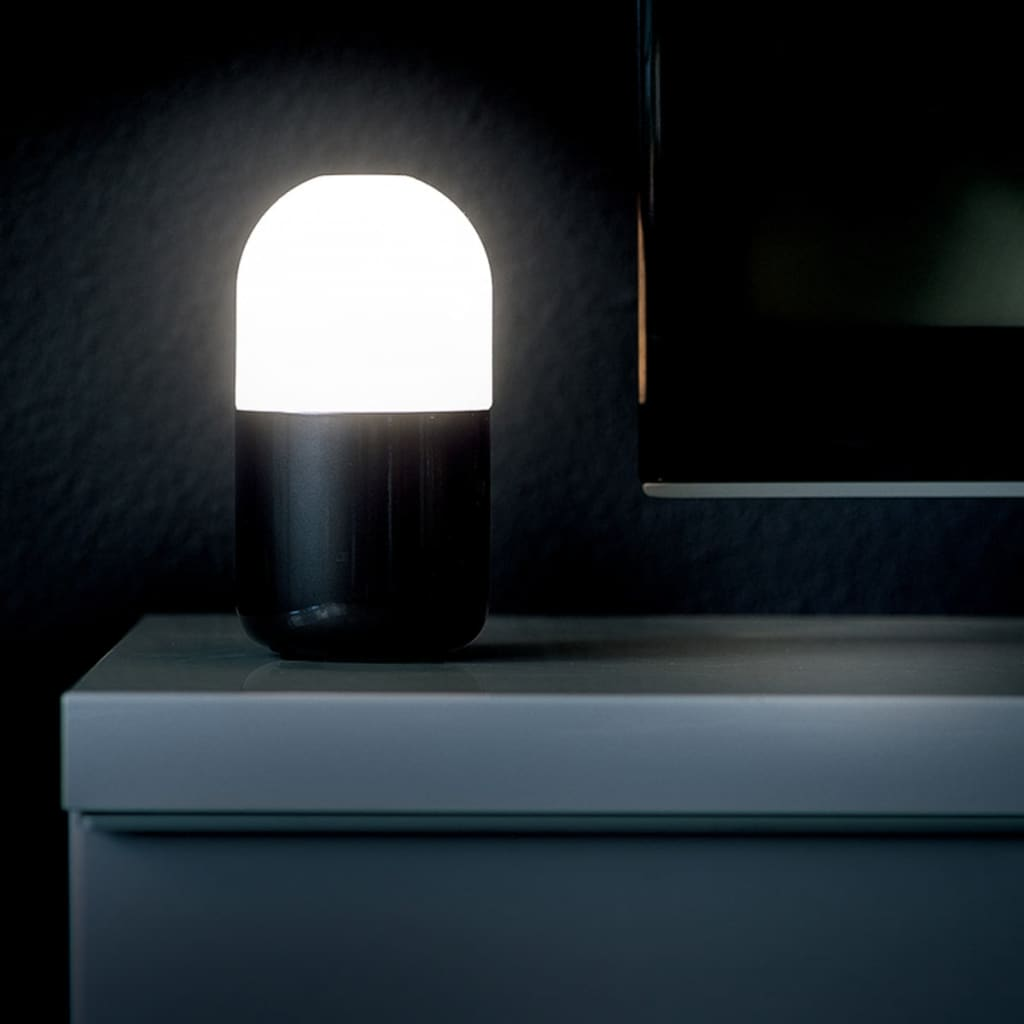 Led Night Lite Smooz Led Night Light Table Lamp Bean Black 4506231