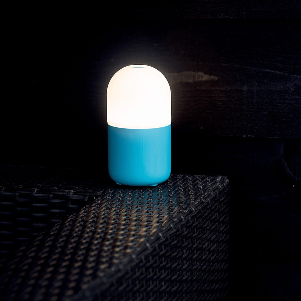 Led Night Lite Smooz Led Night Light Table Lamp Bean Blue 4507001