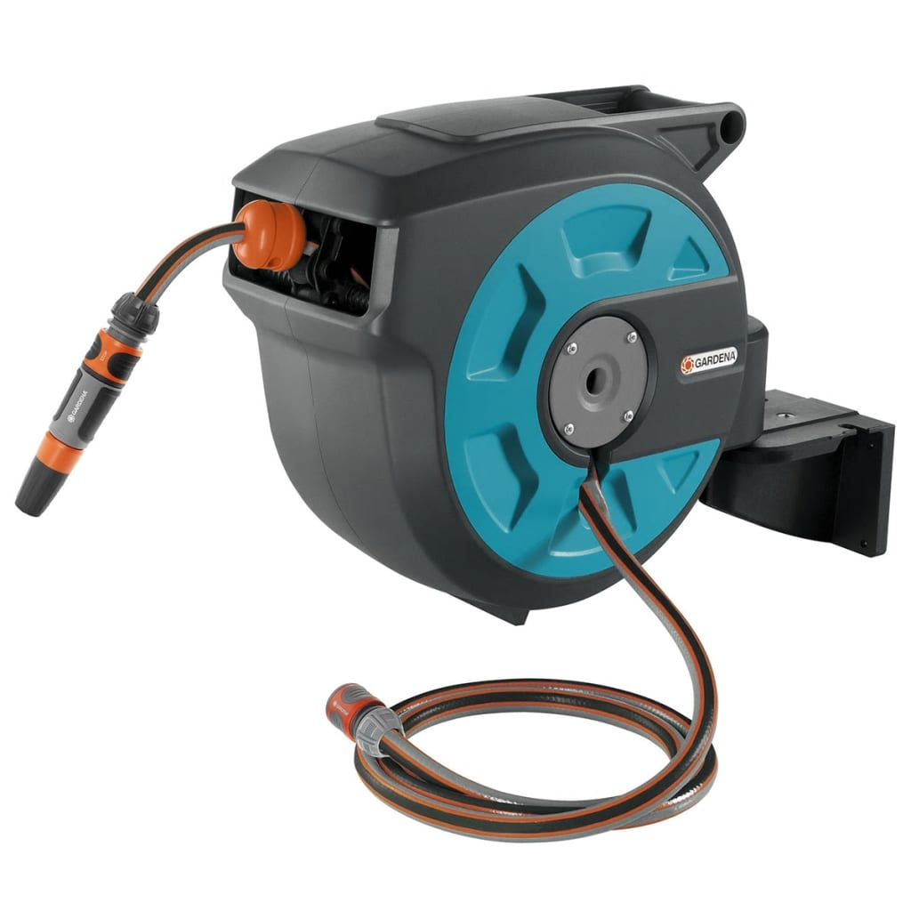 Gardena Wandslangenbox 15 Gardena Wall Mounted Hose Reel 15 Roll Up Blue 8022 20