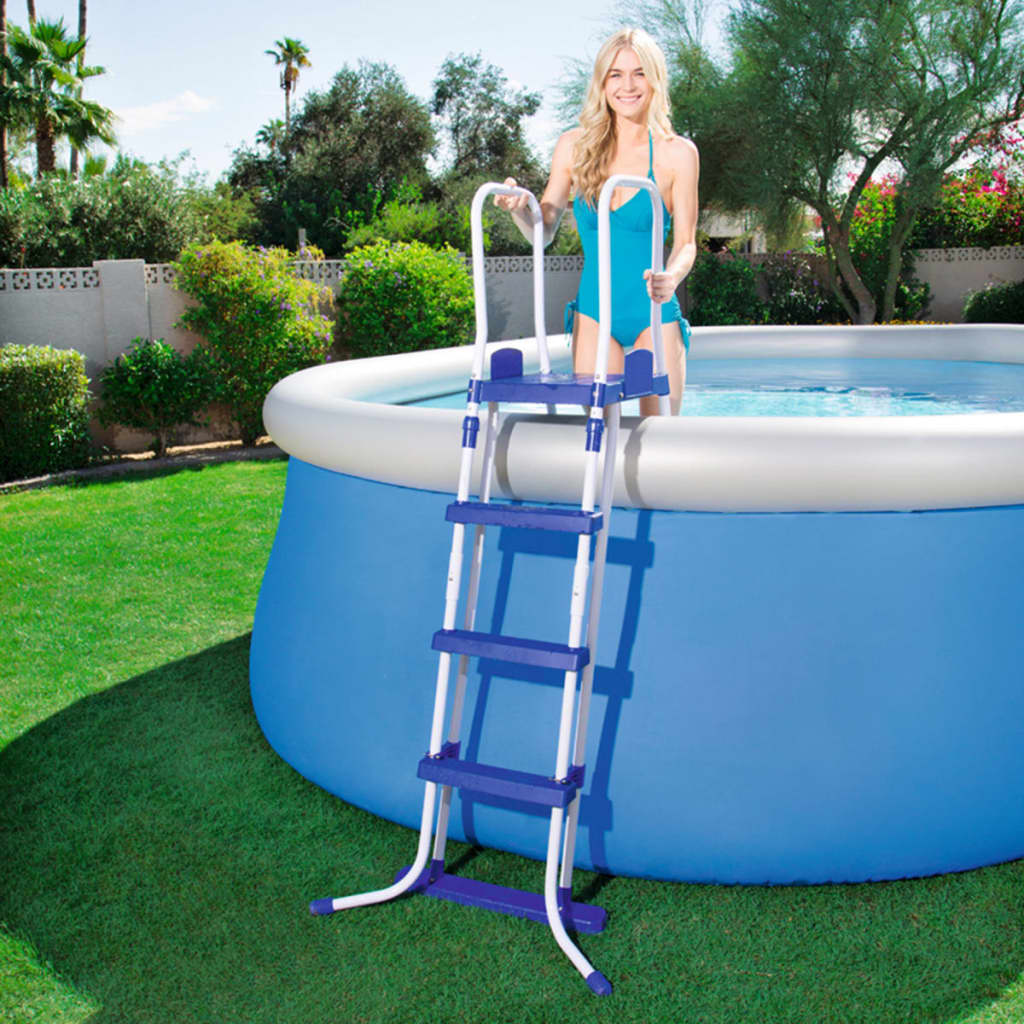 Bestway Pools The Range Bestway 3 Step Pool Ladder 122 Cm 58331 Vidaxl Co Uk