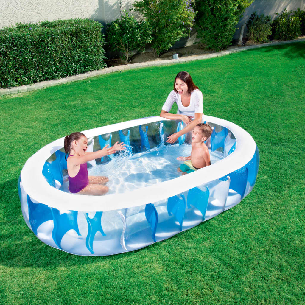 Bestway Pool Abdeckung Oval Bestway Swimming Pool Oval 229x152x51 Cm 54066 Vidaxl Co Uk