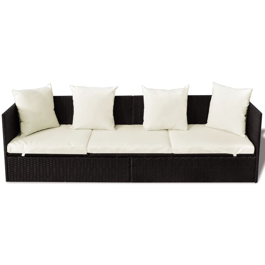 Rattan Chaise Lounge Sofa Rattan And Wicker 3 Seat Sofa Convertible Chaise Lounge