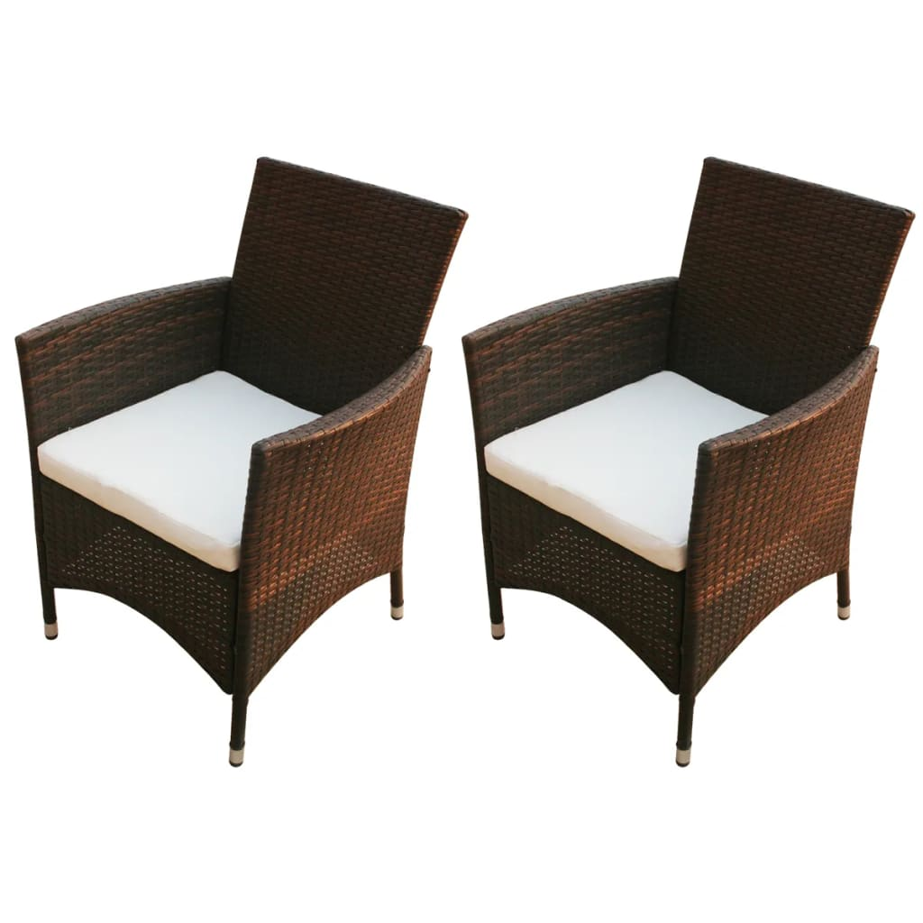 Sillones Valencia 2pc Garden Furniture Chair Poly Rattan Wicker Lounge