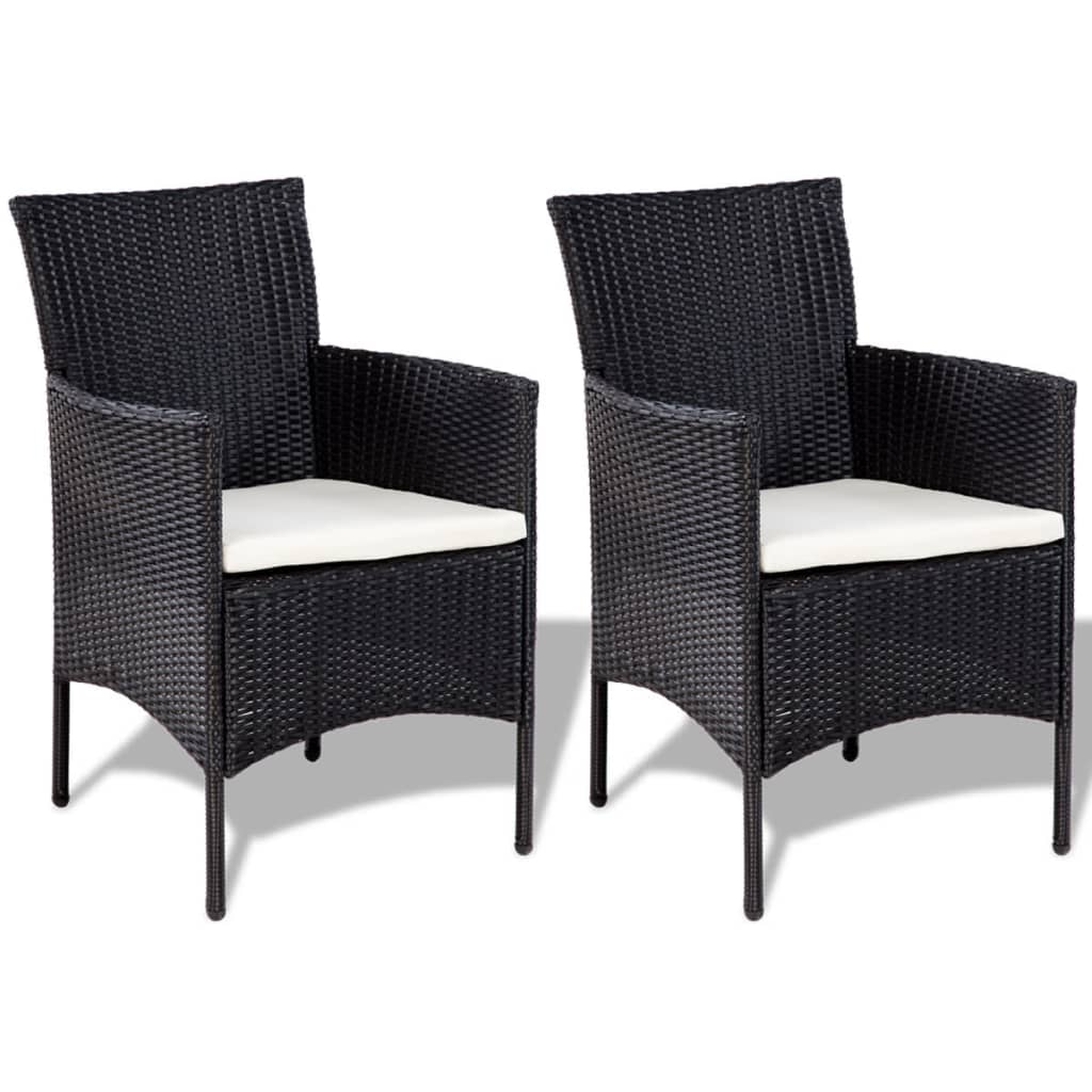Lounge Set Rattan Vidaxl Seven Piece Garden Lounge Set Poly Rattan Black