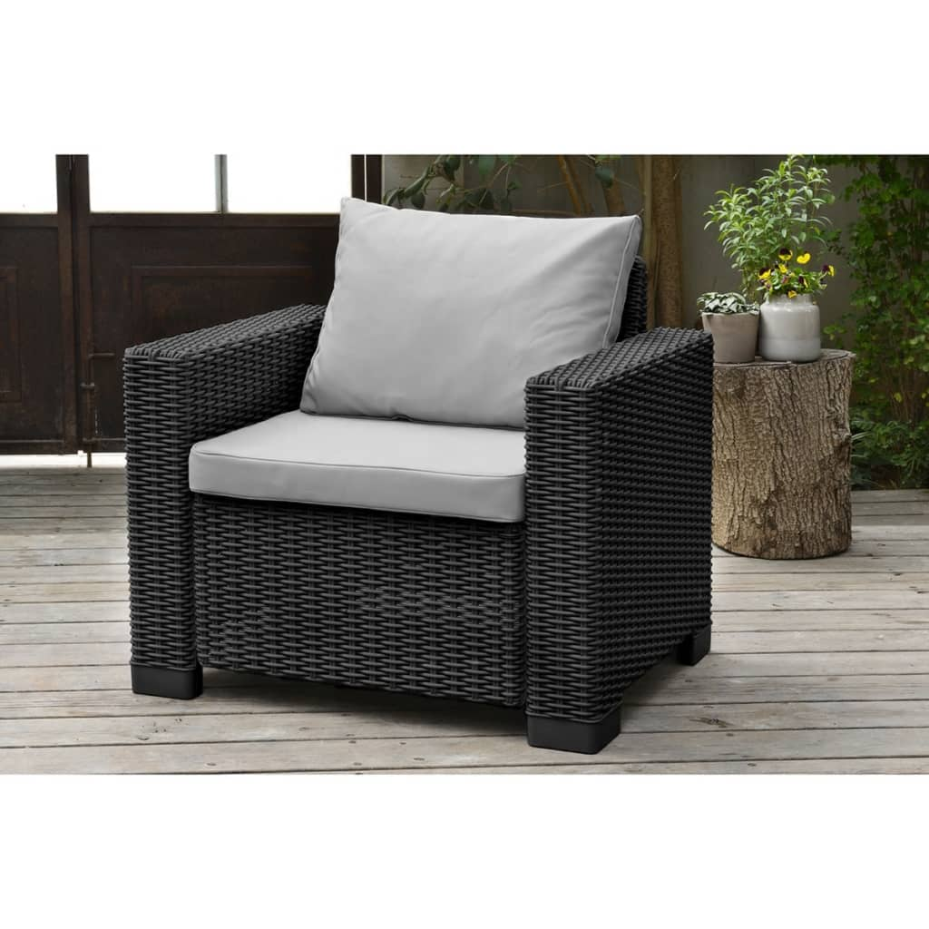 Allibert Salon De Jardin California Allibert 2x Jeu De Chaise De Jardin California Graphite Fauteuil 231561