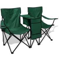 Folding Camping Fishing Double Chair Seat Beach Garden ...