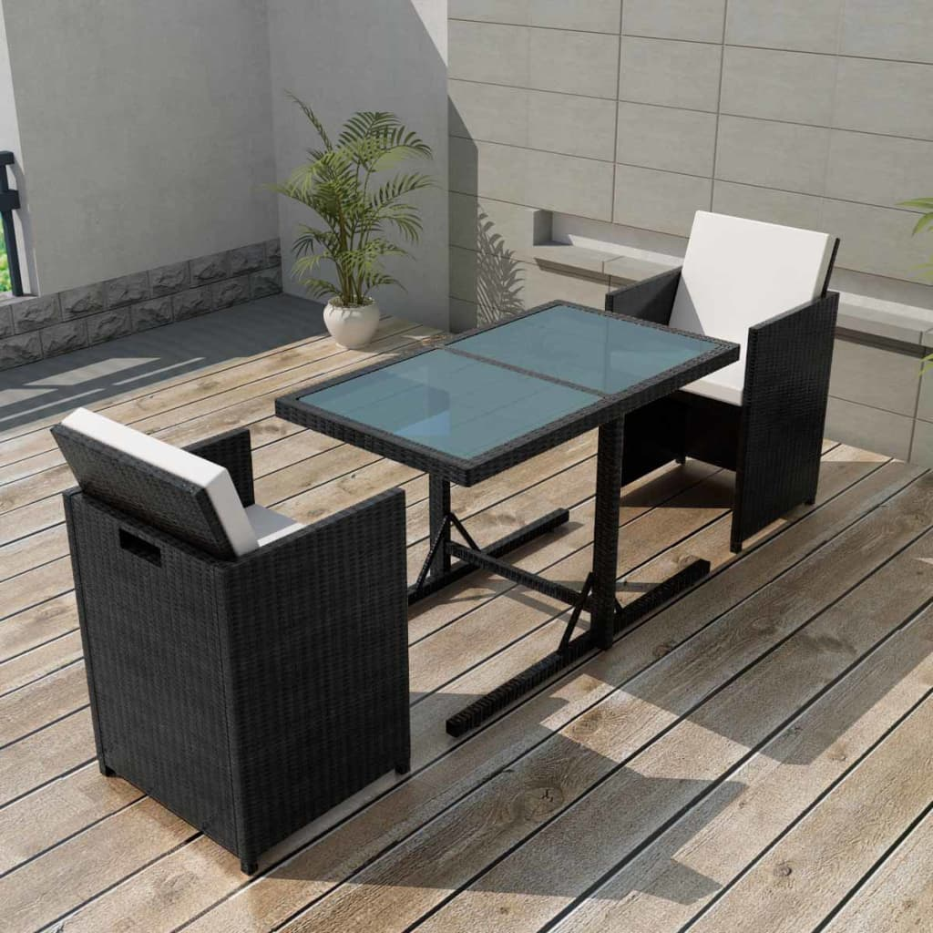 Rattan Chairs Details About Vidaxl Garden Dining Set 7 Pieces Wicker Poly Rattan Chairs Table Furniture