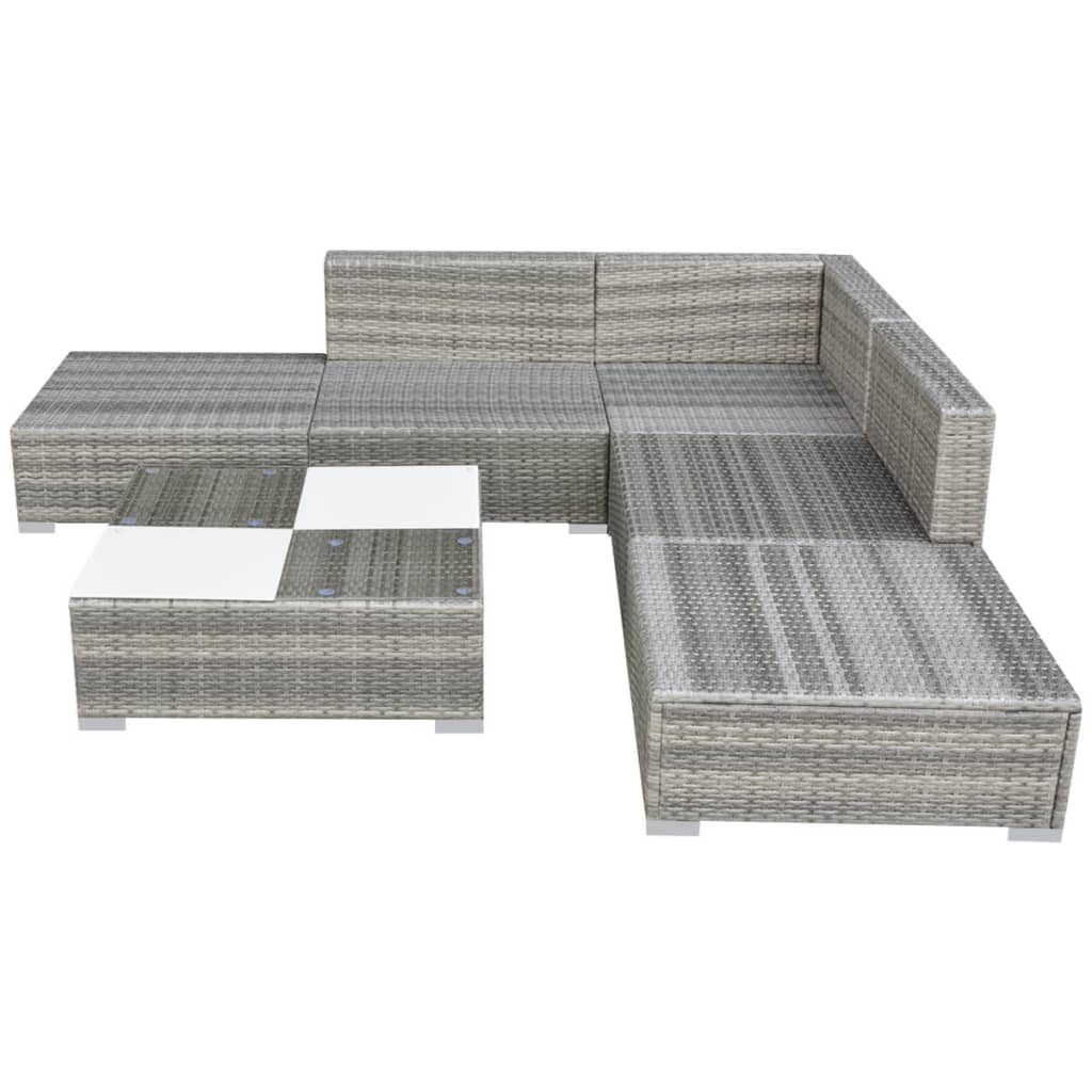 Rattan Garden Sofa Set Ebay Vidaxl Garden Sofa Set 15 Piece Wicker Rattan Grey Outdoor