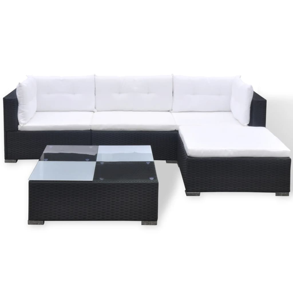 Rattan Garden Sofa Set Ebay Vidaxl Garden Sofa Set 14 Piece Poly Rattan Black Outdoor