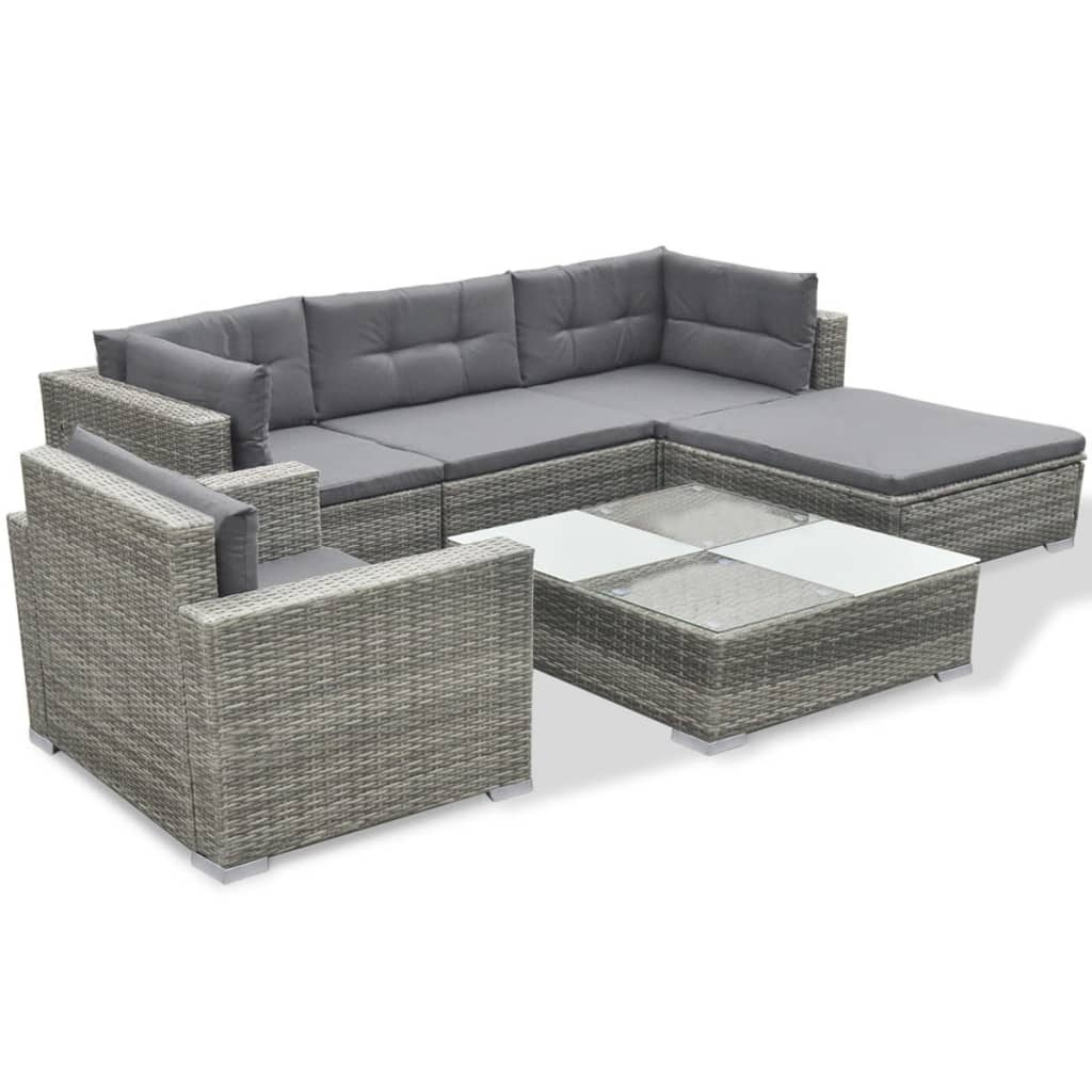 Rattan Garden Sofa Set Ebay Vidaxl Garden Sofa Set 17 Piece Poly Rattan Grey Outdoor