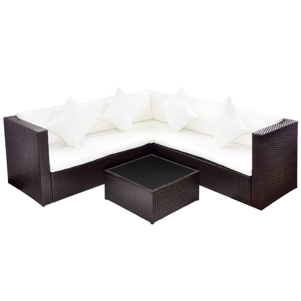Outdoor Sofa Rattan Details About Vidaxl Garden Furniture Set Wicker Poly Rattan Brown Outdoor Sofa Lounge Couch